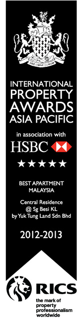 2012-2013-Award-Central-Residence-Best-Apartment-Malaysia
